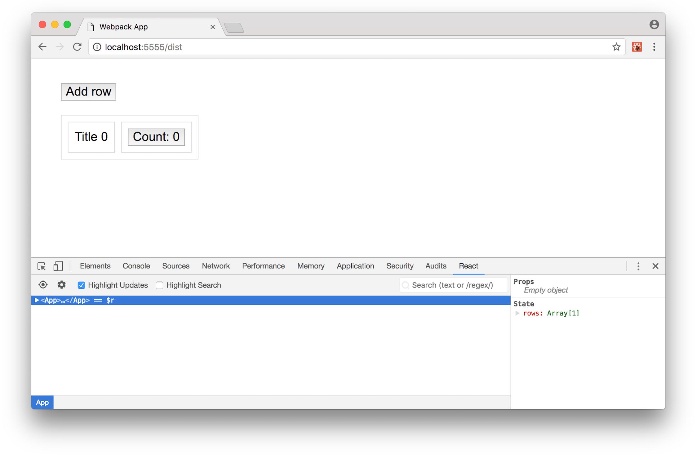 """""""在Chrome中使用""""突出显示更新""""复选框选中DevTools"""""""